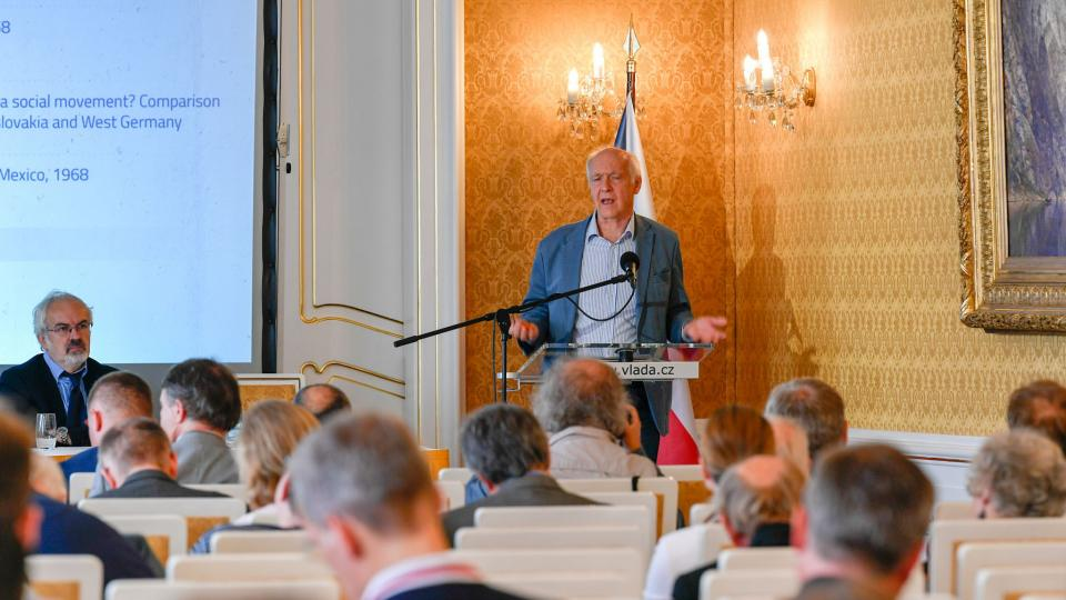Jacques Rupnik na konferenci The Prague Spring 50 Years After
