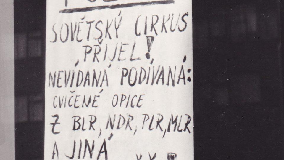 Požadavky a vzkazy srpna 1968. Na procházce Budějovickou ulicí v Praze